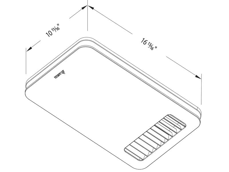 RAD80-DGL drawing grille